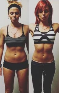 Before and after of one of my clients. Incredible midsection transformation.