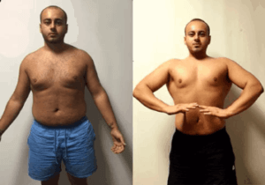 With his personal trainer, he achieved an all over slimmer body transformation with increased fitness.